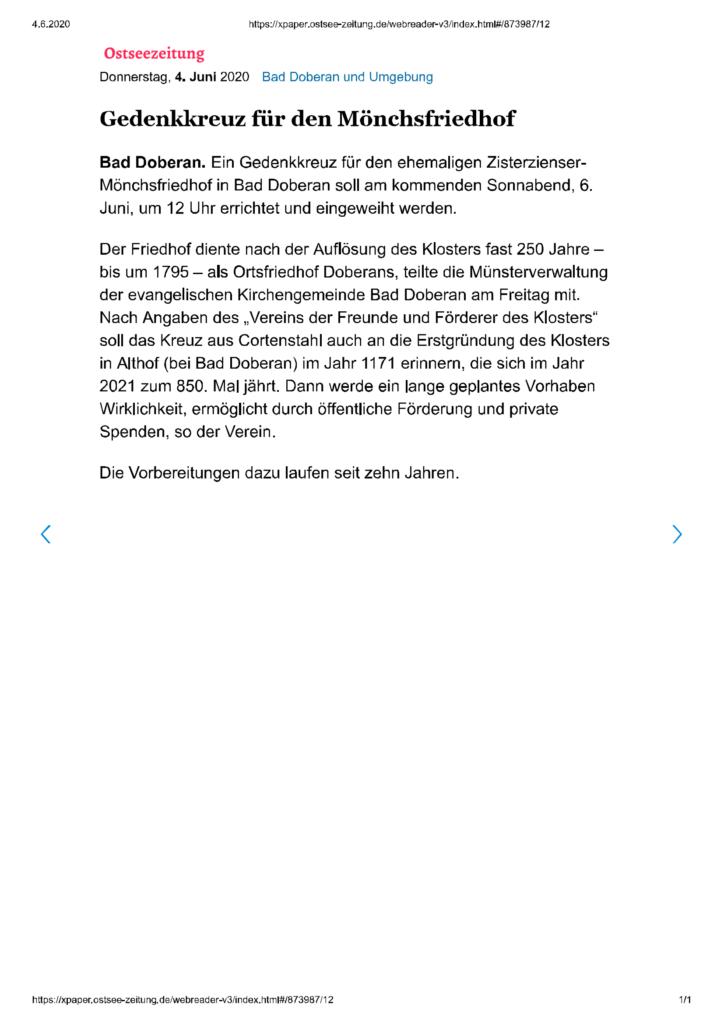 Pressestimmen 04.06.2020