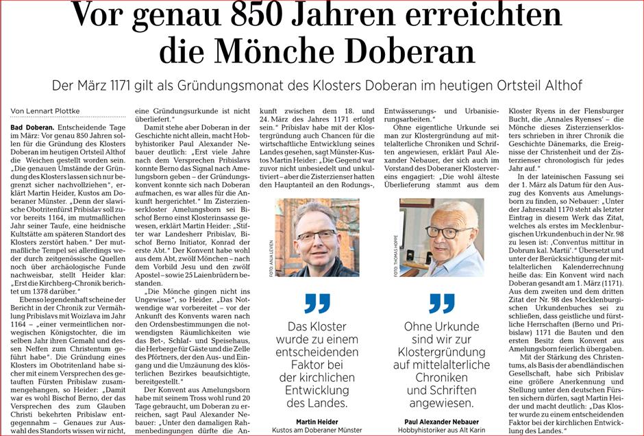 Ostseezeitung 25.03.2021